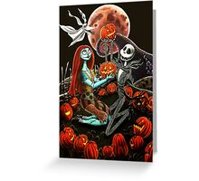 Jack and Sally Pumpkin Patch  Greeting Card