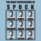 Many Expressions of Spock by picky62