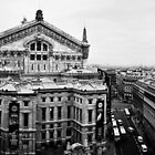 Paris Opera Panorama BW by lesslinear