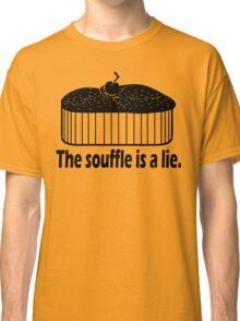 Doctor Who Portal the Souffle is a lie black Classic T-Shirt