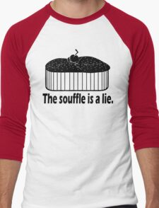 Doctor Who Portal the Souffle is a lie black Men's Baseball ¾ T-Shirt