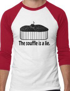 Doctor Who Portal the Souffle is a lie black Men's Baseball ¾ T-Shirt