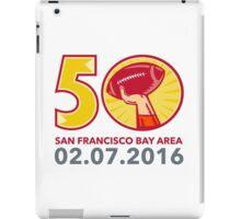 50 Pro Football Championship Sunday 2016 iPad Case/Skin