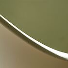 Minimal Curve in White and Green by Jane Underwood