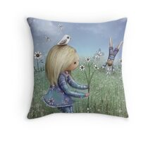 moments of innocence Throw Pillow