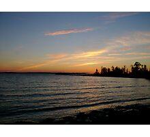 lake simcoe sunset Photographic Print