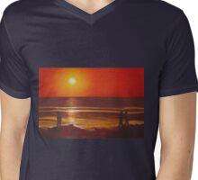 Heat wave Mens V-Neck T-Shirt