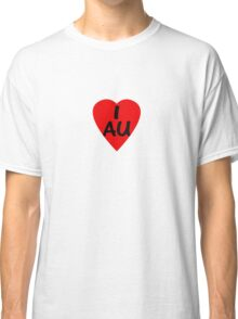 I Love Australia - Country Code AU T-Shirt & Sticker Classic T-Shirt