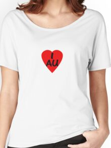 I Love Australia - Country Code AU T-Shirt & Sticker Women's Relaxed Fit T-Shirt