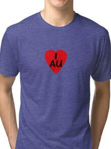 I Love Australia - Country Code AU T-Shirt & Sticker Tri-blend T-Shirt
