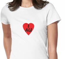 I Love Australia - Country Code AU T-Shirt & Sticker Womens Fitted T-Shirt