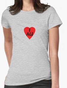 I Love Australia - Country Code AU T-Shirt & Sticker T-Shirt