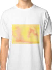 Hand-Painted Yellow Orange Watercolor Background Classic T-Shirt