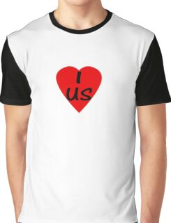 I Love USA Country Code US - USA T-Shirt & Sticker Graphic T-Shirt