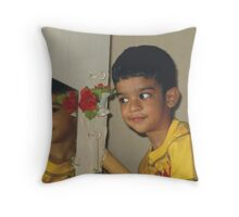 A Naughty Mood in Mirror Throw Pillow