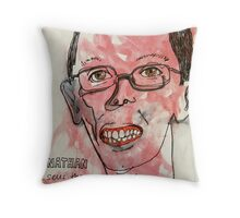 Nathan sells the big issue Throw Pillow