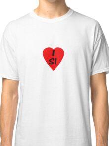 I Love Slovenia - Country Code SI - T-Shirt & Sticker Classic T-Shirt