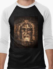Gothic Shroud of Turin Men's Baseball ¾ T-Shirt