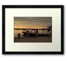 Harbour Sunrise Framed Print
