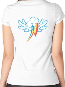 Rainbow Dash Cutie Wings Women's Fitted Scoop T-Shirt