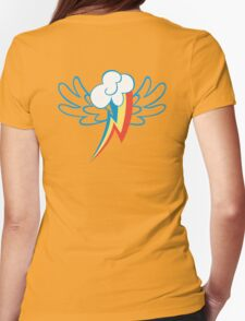 Rainbow Dash Cutie Wings Womens Fitted T-Shirt