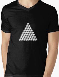 Qbert - Blank Map Mens V-Neck T-Shirt