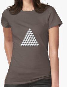 Qbert - Blank Map Womens Fitted T-Shirt