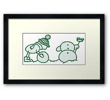 I Wanna Build A Snowman Green - 1 Framed Print