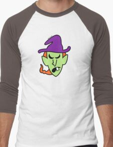 Angry Halloween Witch Men's Baseball ¾ T-Shirt