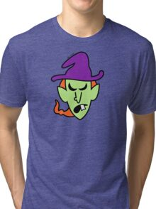 Angry Halloween Witch Tri-blend T-Shirt