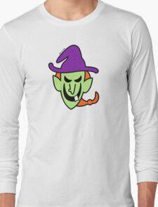 Naughty Halloween Witch Long Sleeve T-Shirt
