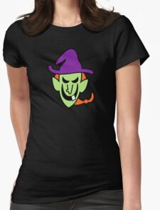 Naughty Halloween Witch Womens Fitted T-Shirt
