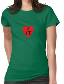 I Love IT - Country Code Italy ~ T-Shirt & Sticker Womens Fitted T-Shirt