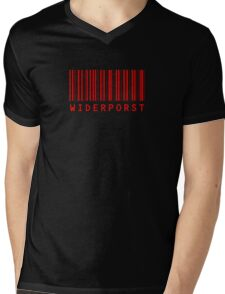 Widerporst Barcode (red) Mens V-Neck T-Shirt