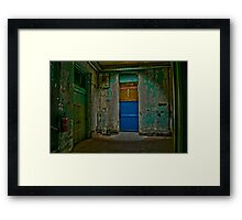 Should You Take the Green Door or the Blue Door? Framed Print