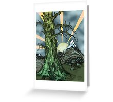 Gnarly Tree Pen Drawing Greeting Card