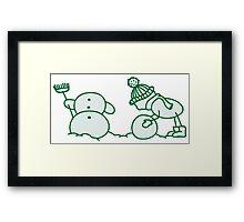 I Wanna Build A Snowman Green - 2 Framed Print