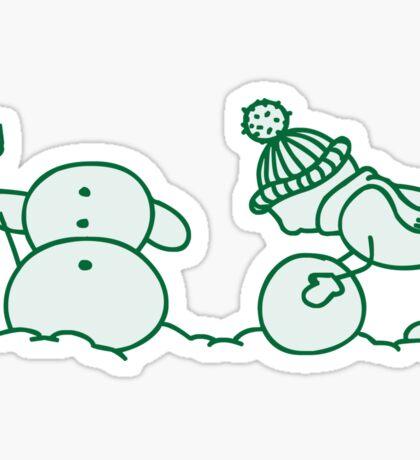 I Wanna Build A Snowman Green - 2 Sticker