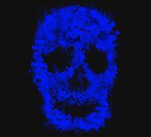 Splatter Skull (blue) Unisex T-Shirt