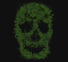 Splatter Skull Zombie (green) Unisex T-Shirt