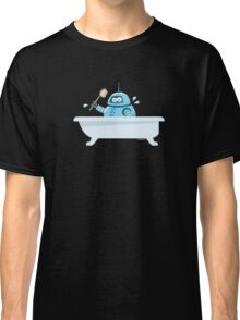 Robot in the bath Classic T-Shirt