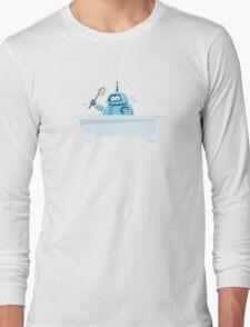 Robot in the bath Long Sleeve T-Shirt