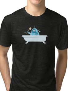Robot in the bath Tri-blend T-Shirt