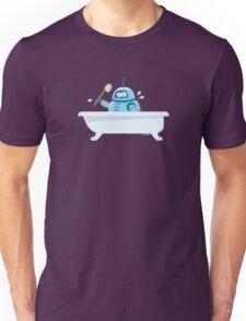 Robot in the bath Unisex T-Shirt