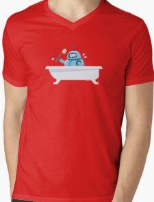 Robot in the bath Mens V-Neck T-Shirt
