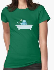 Robot in the bath Womens Fitted T-Shirt