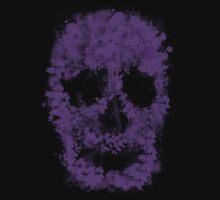 Splatter Skull (violet) Kids Tee