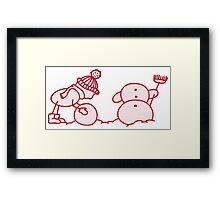 I Wanna Build A Snowman Red - 1 Framed Print