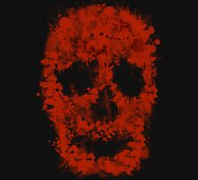 Splatter Skull (red blood) Unisex T-Shirt