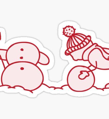 I Wanna Build A Snowman Red - 2 Sticker